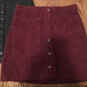 Red free people skirt